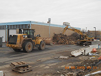 April 2015 - Removing tree stumps from former Jersey City property