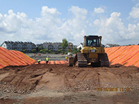 August 2015 - Covering geotextile with screened clean fill at Kellogg Street properties
