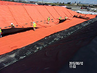 August 2015 - Placement of geotextile along Kellogg Street properties