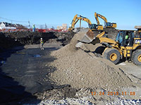 December 2013 - Crushed concrete being placed