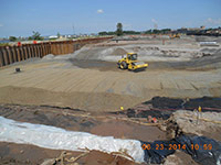 June 2014 - Backfill being compacted