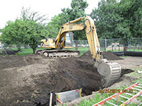 June 2015 - Excavating to confirm 36-inch sewer main location on former Jersey City property