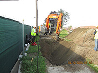 June 2015 - Excavating to confirm utilities locations along Route 440