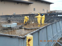 March 2014 - Cleaning out tank at 80 Kellogg St. prior to demolition