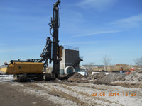 March 2014 - Sheetpile installation along sewer line