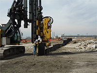 March 2015 - Installing sheet pile on Jersey City properties