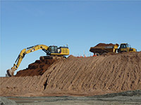 March 2015 - Moving soil to stockpile area