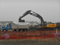 May 2014 - Removing soil for off-site disposal