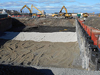 November 2013 - Backfill material being placed